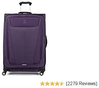 Travelpro Maxlite 5-Softside Expandable Spinner Wheel Luggage, Imperial Purple, Checked-Large 29-Inch