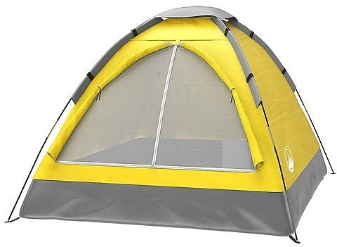 2-Person Dome Tent- Rain Fly & Carry Bag- Easy Set Up-Great for Camping & Music Festivals By Wakeman Outdoors Yellow M470090
