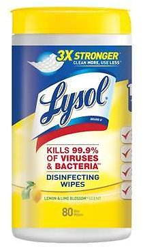 Lysol Lemon & Lime Blossom Scent Disinfecting Wipes 80 Count