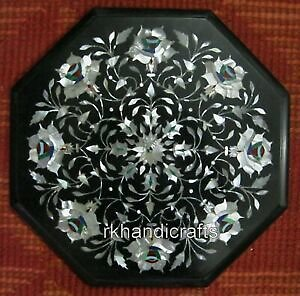 12 Inches Marble Side Table Top Mother of Pearl Stone Living Room Furniture