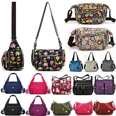 Women Multi Pocket Bag Messenger Cross Body Handbag Lady Hobo Shoulder Bag Tote