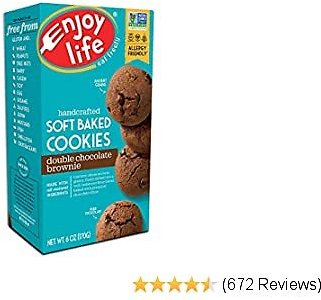 Enjoy Life Soft Baked Cookies, Soy Free, Nut Free, Gluten Free, Dairy Free, Non GMO, Vegan, Double Chocolate Brownie, 1 Box