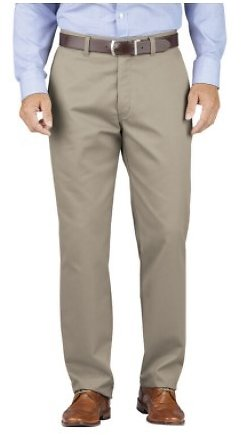 Dickies Relaxed Fit Tapered Leg Comfort Waist Khaki Pants