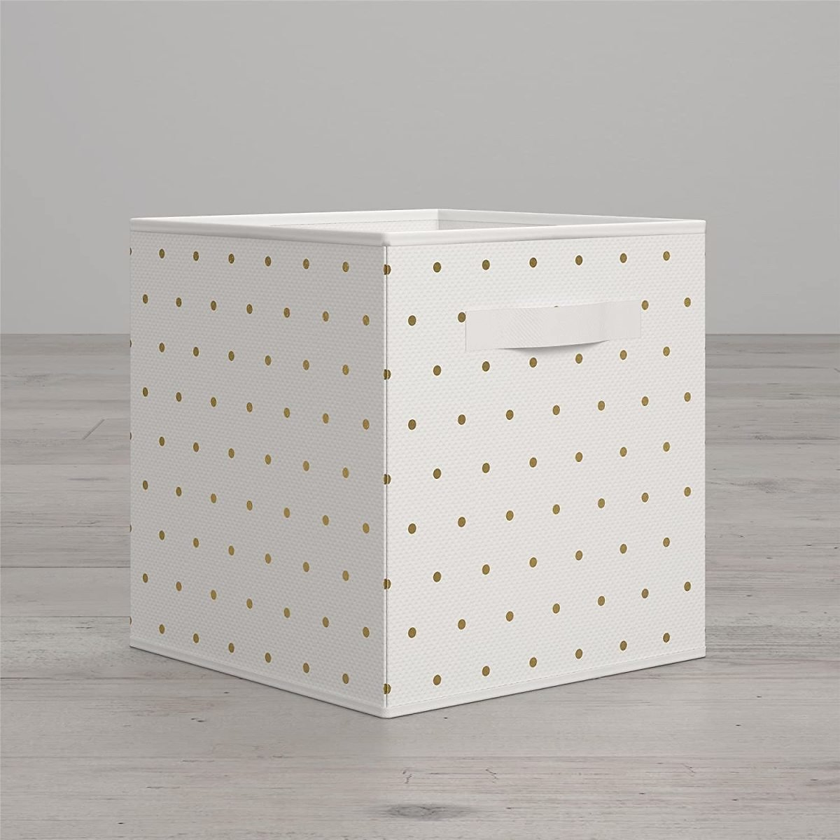 Little Seeds Polka Dot Print Collapsible Bin, Gold