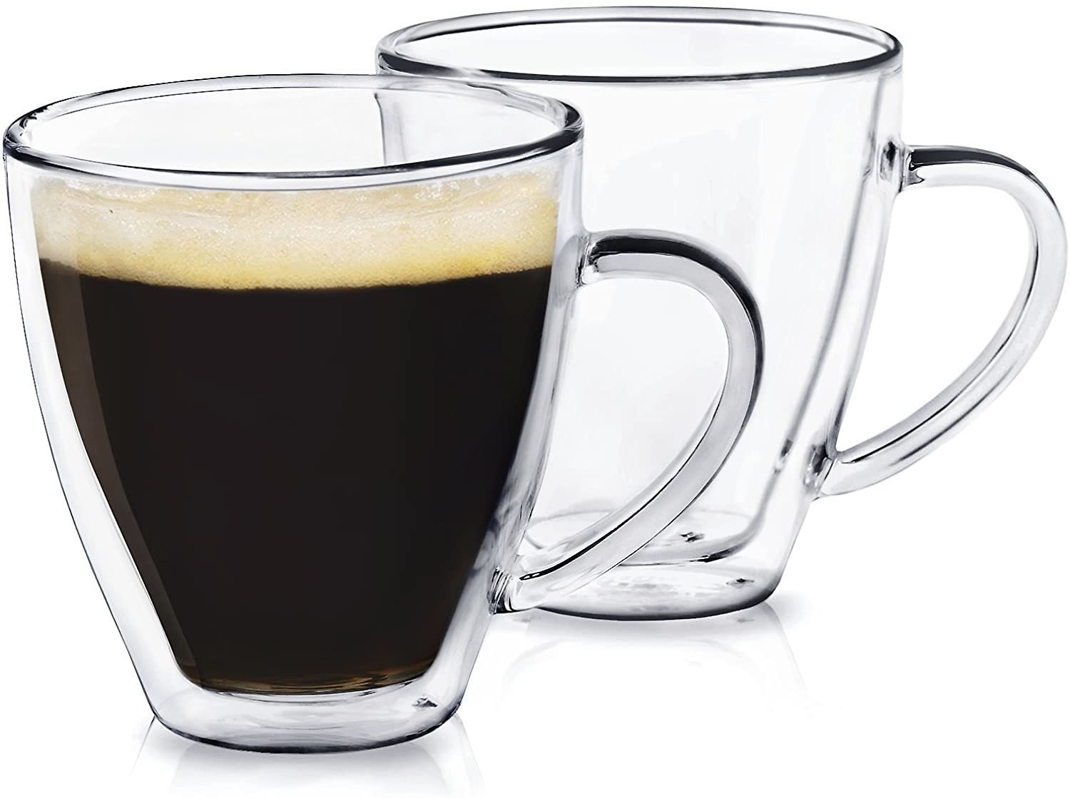 Dragon Glassware Espresso Cups, Insulating Double Walled Glass, 6-Ounce, Set of 4