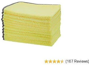 AmazonBasics Ultra-Absorbent Microfiber Cleaning Cloths, 12-Pack