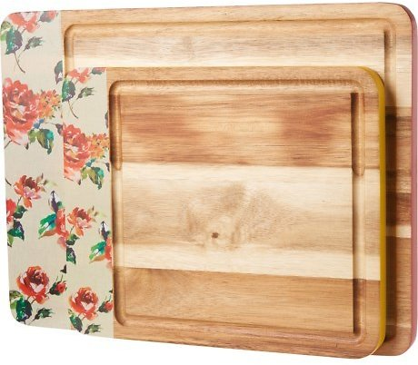 Cambridge Silversmith Floral Cutting Board Set - 2-Pack