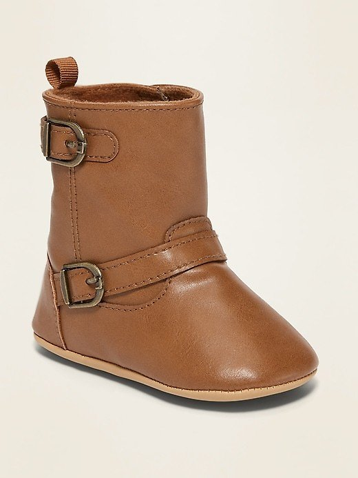 Faux-Leather Buckled Tall Boots for Baby | Old Navy