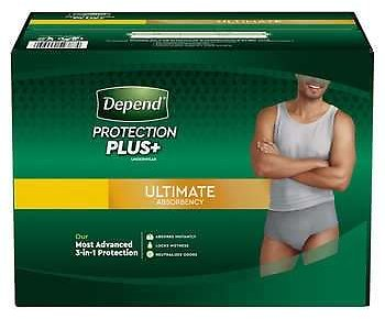 Depend Protection Plus Ultimate Underwear for Men