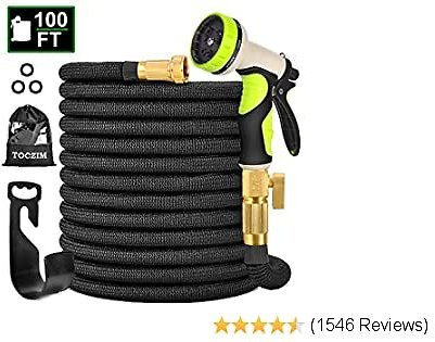 TOCZIM 100ft New Expandable Garden Hose