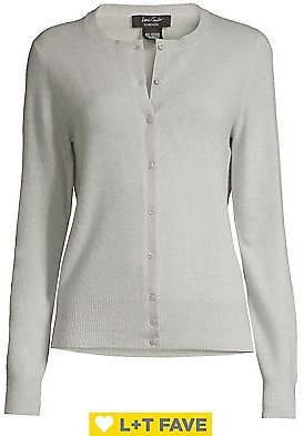 Lord & Taylor - Button Front Essential Cashmere Cardigan