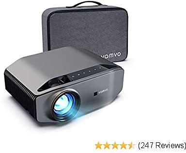 "Projector for Outdoor Movies, Vamvo L6200 1080P Full HD Video Projector with Max 300"" Display, 5000Lux"