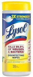 Lysol Wipes: Lysol Disinfecting Wipes Lemon & Lime Blossom