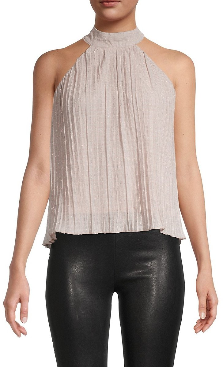 Walter Baker Pleated Halter Top On SALE