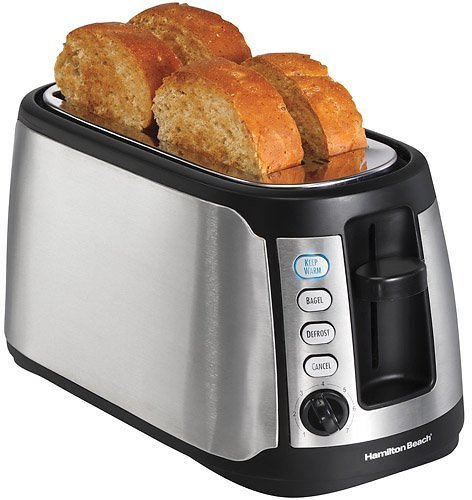 Hamilton Beach Long Slot Keep Warm Toaster | Model# 24810