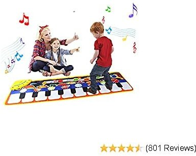 ZJQY Piano Music Dance Mat for Kids - Best Gifts
