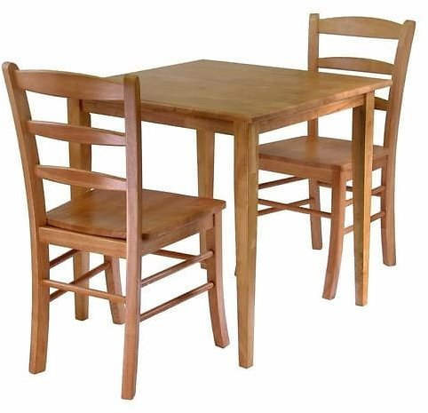Winsome Wood Groveland Light Oak Dining Set with Square Dining Table Lowes.com