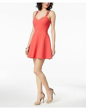 FRENCH CONNECTION Womens Pink Cut Out V Neck Mini Fit + Flare Cocktail Dress 6 887916362862