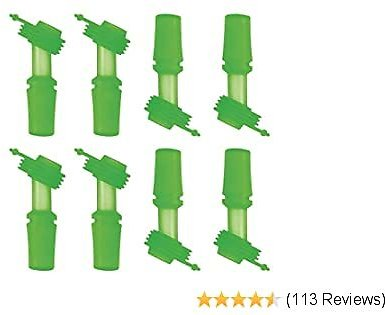 The Mass Replacement Bite Valve Set for CamelBack Eddy Kids Water Bottle 8pack (Green 8Pack)