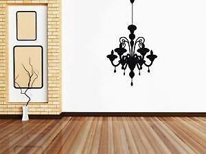 CHANDELIER Decal WALL STICKER Home Decoration Art ALL COLORS & SIZES ST74