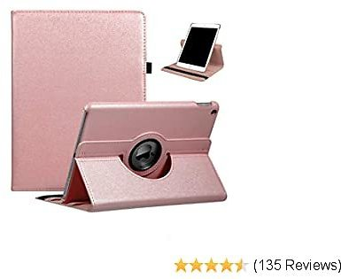 IPad 10.2 Case 2019 IPad 7th Generation Case - 360 Degree Rotating Stand Smart Case Protective Cover with Auto Wake/Sleep for IPad 10.2 Inch 2019 (A2197 A2198 A2200)(Rose Gold)