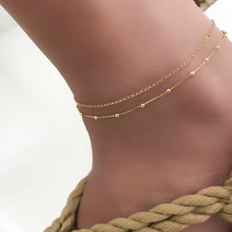 US $2.44 50% OFF|Trendy Jewelry Female Anklets Barefoot Crochet Sandals Foot Jewelry Leg New Anklets On Foot Ankle Bracelets For Women Leg Chain|Anklets| - AliExpress