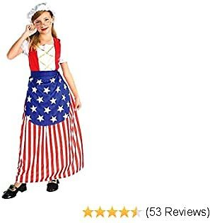 Forum Novelties 58270M Patriotic Party Betsy Ross Costume, Child Medium, One Color, M