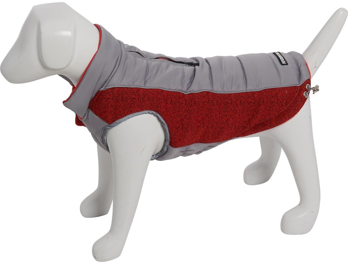 Pup Crew Pro Red Reflective Flex Knit Tech Dog Jacket - Small-Medium
