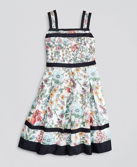 Girls Floral Print Cotton Dress - Brooks Brothers