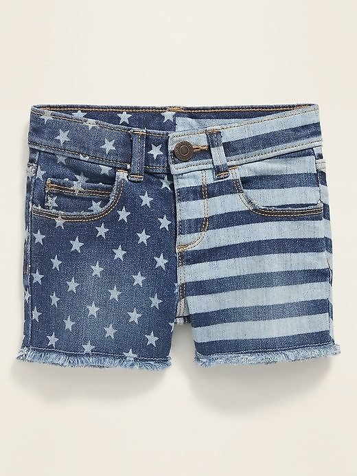 Frayed-Hem Jean Shorts for Toddler Girls | Old Navy