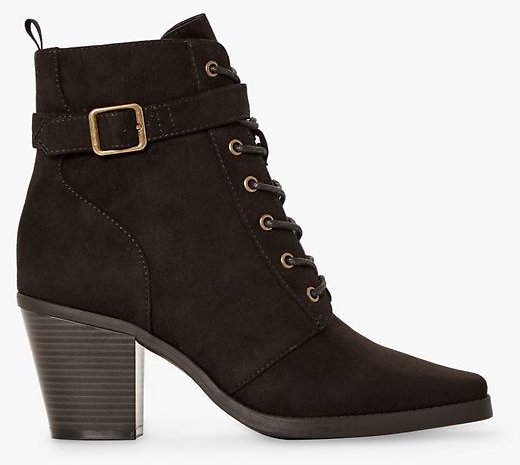 Alanna Lace-up Heeled Bootie