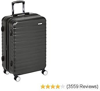 AmazonBasics Premium Hardside Spinner Suitcase Luggage with Built-In TSA Lock and Wheels