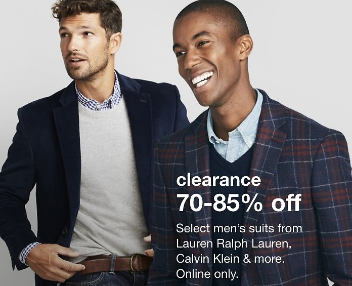 70%-85% Off Men's Suiting Event