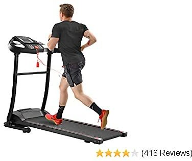 Merax Treadmill Folding Electric Treadmill Motorized Running Jogging Machine Easy Assembly Electric Treadmills for Home, 12 Programs with Speakers