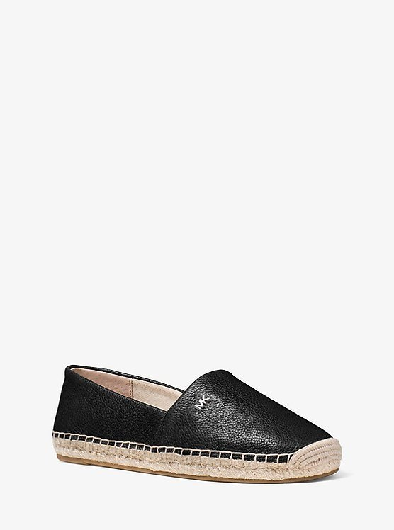 Kendrick Pebbled Leather Espadrille