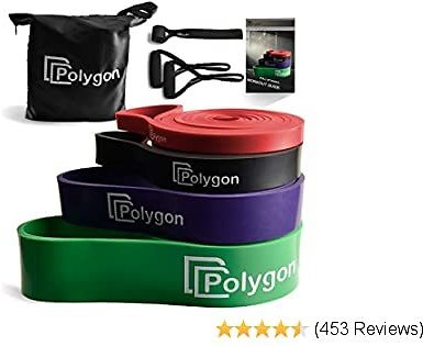 Polygon Pull Up Assist Bands - Resistance Exercise Band - Heavy Duty Assistance Loop Mobility Band, for Body Stretching, Muscle Toning, Powerlifting, Resistance Training