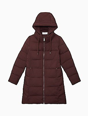 Quilted Heavy Weight Full Zip Hooded Jacket   Calvin Klein