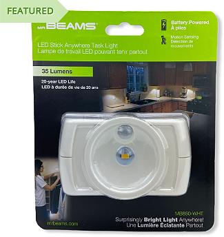 Mr. Beams Wireless Motion Sensor LED Under Cabinet Light - Mr Beams Is Incredibly Highly Rated Lighting and Rarely Goes On Sale Like This! SEE THE VIDEO! - Order 3 or More and SHIPPING IS FREE! - 13 Deals