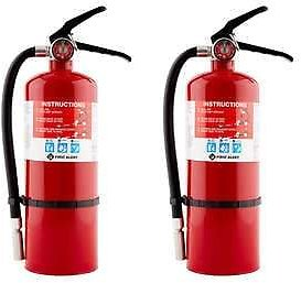 2-Pk First Alert Rechargeable Fire Extinguisher