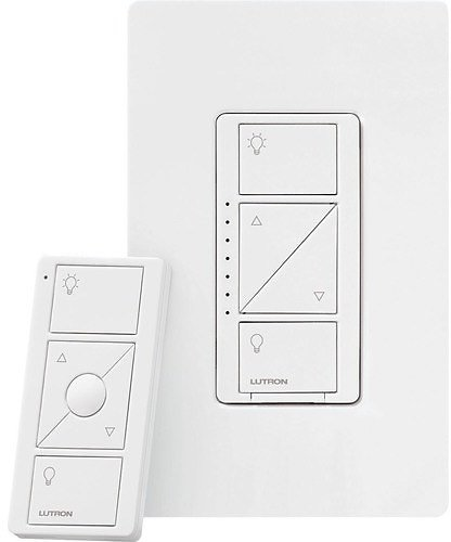 Lutron Caseta Wireless Single-Pole/3-Way White Smart LED Touch Light Dimmer with Wall Plate Lowes.com