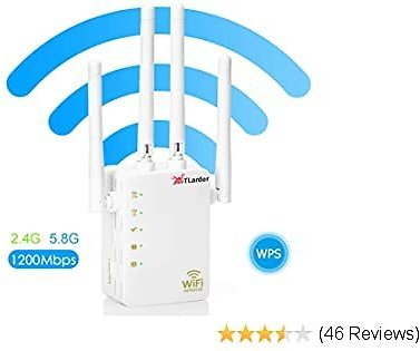 WiFi Range Extender Repeater,1200Mbps Router Wireless WiFi Signal Booster,2.4 and 5GHz WiFi Extender Signal Amplifier with AP/Router/Repeater Mode,Access Point   Easy Set-Up   2020 Upgraded (White)