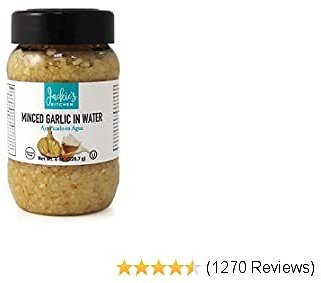 Jackie's Kitchen Minced Garlic in Water, 8 Ounce