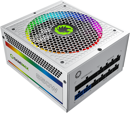 GMX RGB Power Supply, ATX Power Supply 850W Fully Modular 80+ Gold Certified with Addressable RGB Light, ATX 12V 2.31,14CM RGB Fan RGB-850 White - Newegg.com
