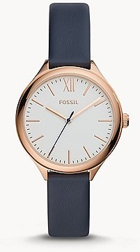 Suitor Three-Hand Blue Leather Watch - BQ8001 - Fossil