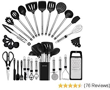 EXTRA 32% OFF Kitchen Utensil Set-Silicone Cooking Utensils-33 Kitchen Gadgets & Spoons
