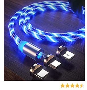 LED Flowing Magnetic Phone Charging Cable