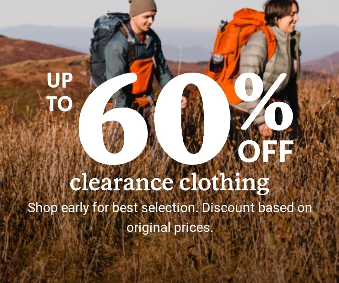 Up to 60- 70% Off REI September Clearance