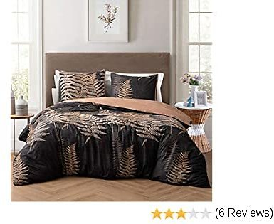 NEWLAKE Duvet Covet Set-3 Pieces Comforter Cover Sets (1 Duvet Cover + 2 Pillow Shams),Queen Size,Golden Field Pattern