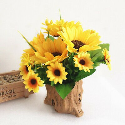Artificial Potted Plants Sunflowers Fake Plants for Room Office Desk Decoration