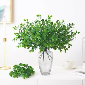 Artificial Bouquet Flowers Eucalyptus Leaves Fake Plants for Wedding Party Home